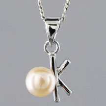 Fashion Freshwater Pearl Pendant, Key